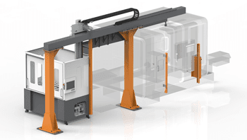 Retrofit CNC machine gantry loader