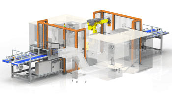 Dual CNC Machine conveyor cell