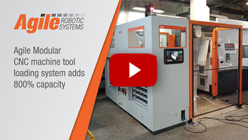 Agile Modular CNC machine tool loading system adds 800% capacity